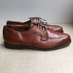 Bostonian Men US 8 Brown Leather Lace-Up Shoes